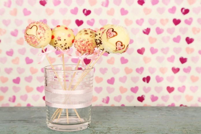 Cake Pops para San Valentin chocolate blanco