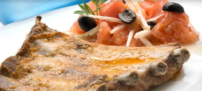 costillas de cerdo y ensalada murciana receta gourmet