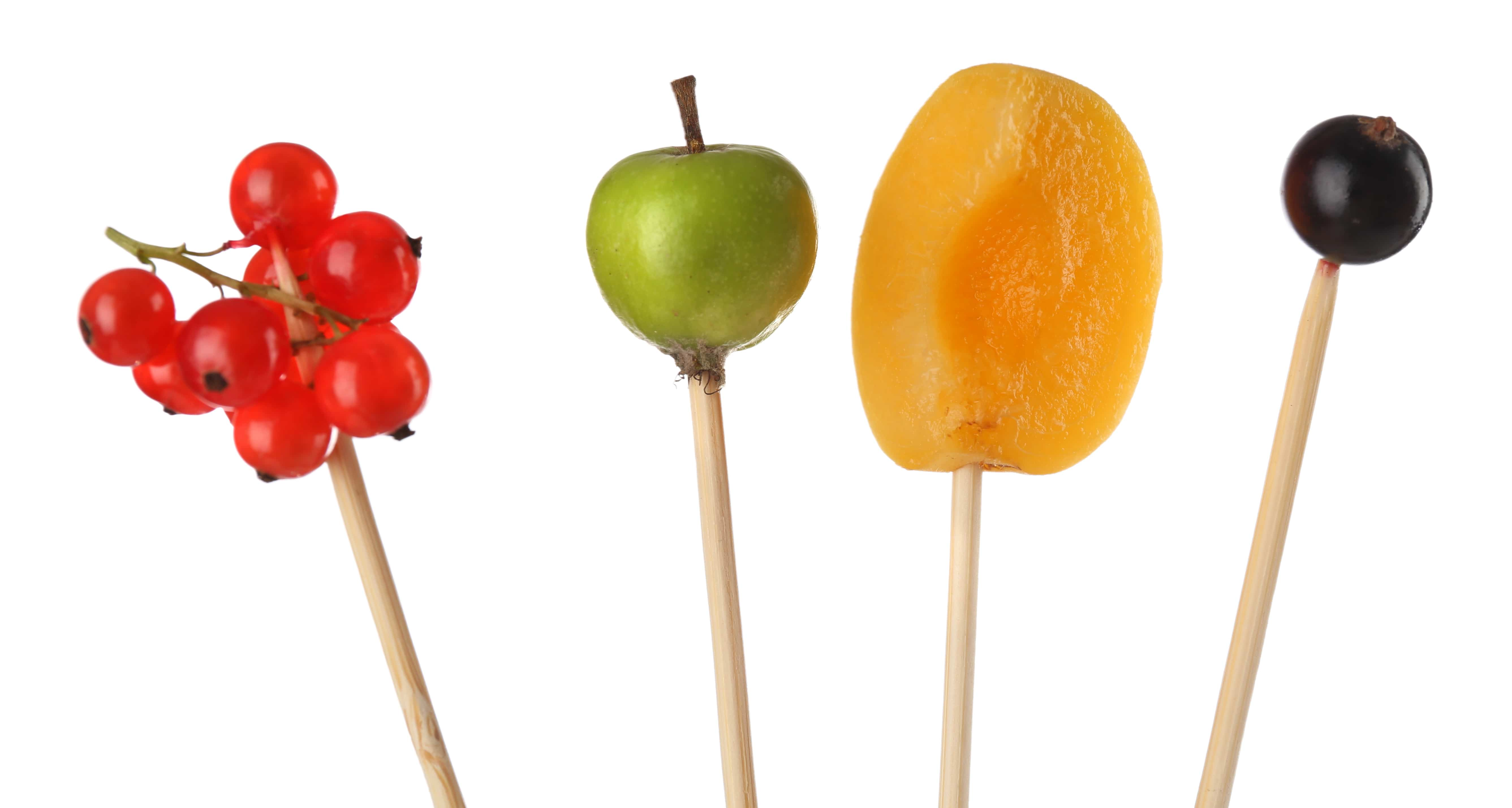 brochetas de fruta para este verano