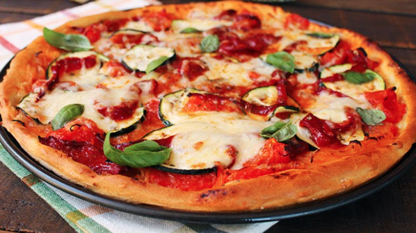 pizza vegetal calabacín