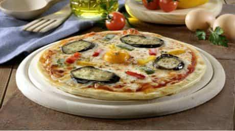 pizzar vegetal con berenjena