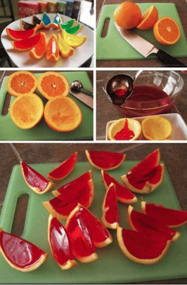 receta de frutas con gelatina