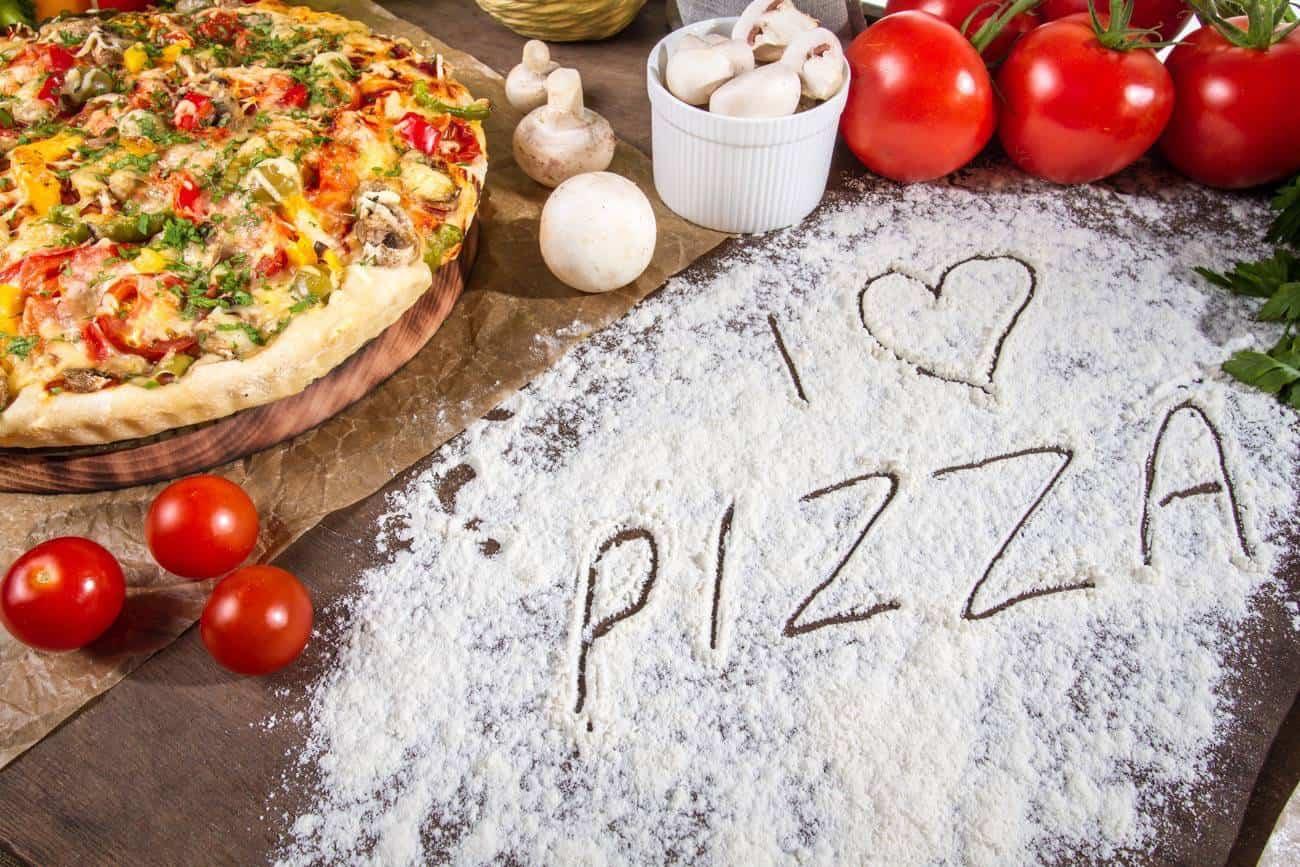 receta de pizza vegetal
