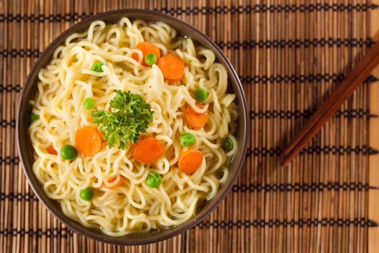 receta de tallarines con verduras