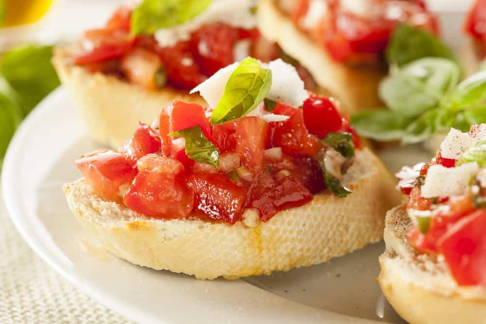 bruschetta receta italiana