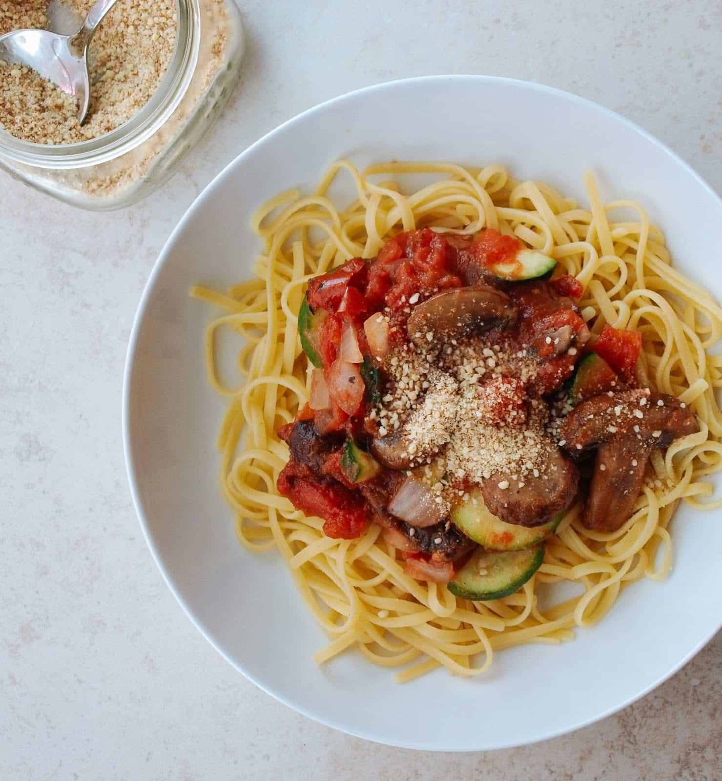 receta de pasta al estilo perezoso