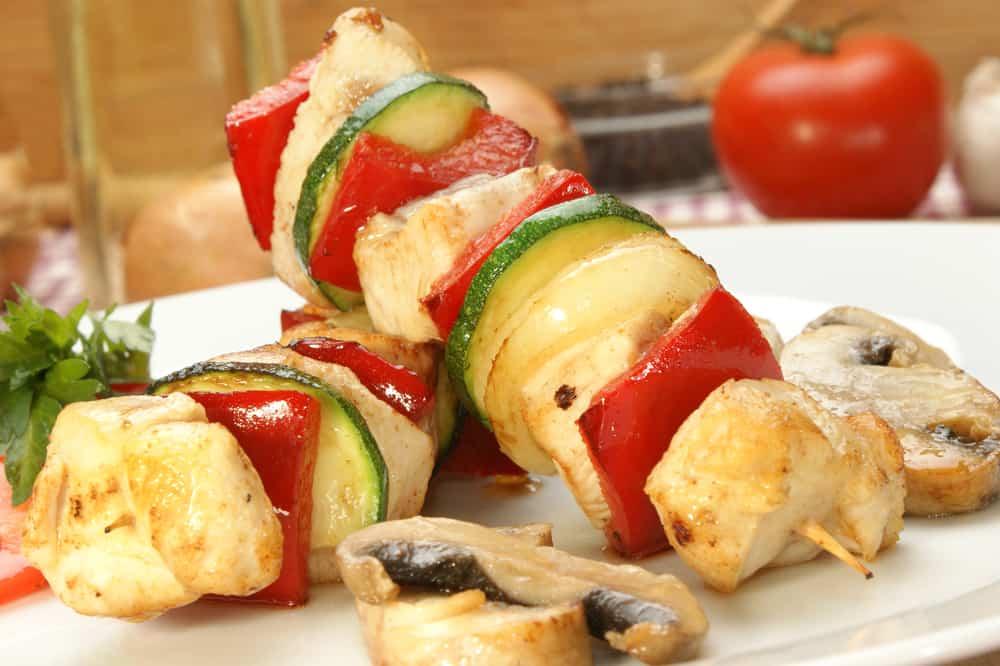pincho de pollo y verdura