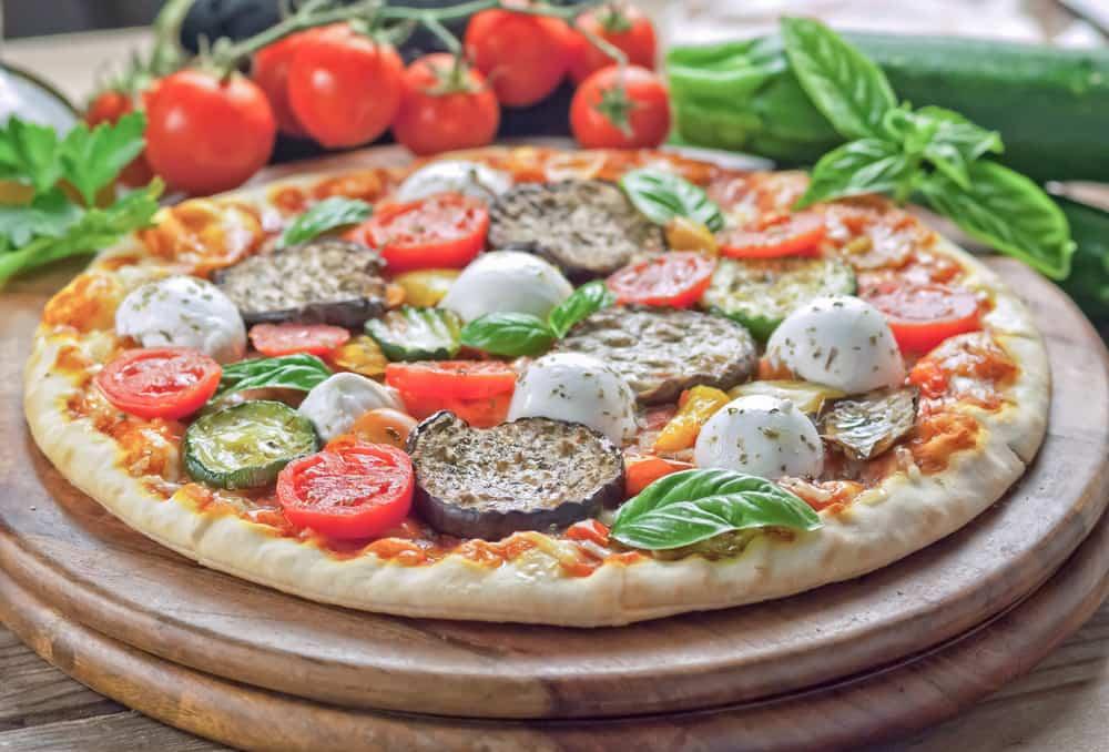 pizza vegetariana receta