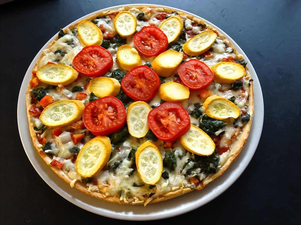 receta de pizza vegetariana