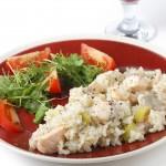 receta de risotto con salmón