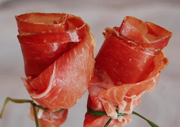 Rosas de jamón