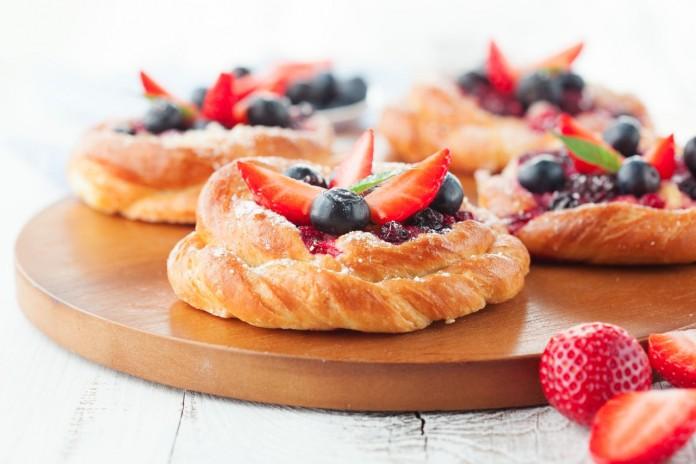 canape dulce fresas