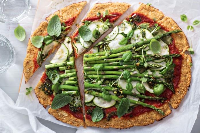 pizza de esparragos