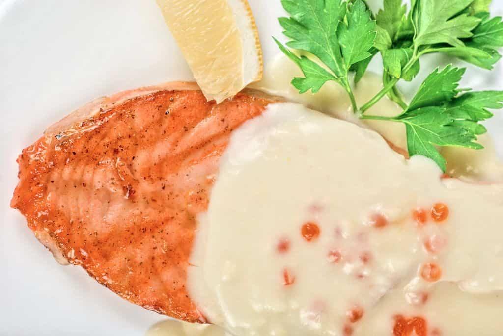 salmon queso