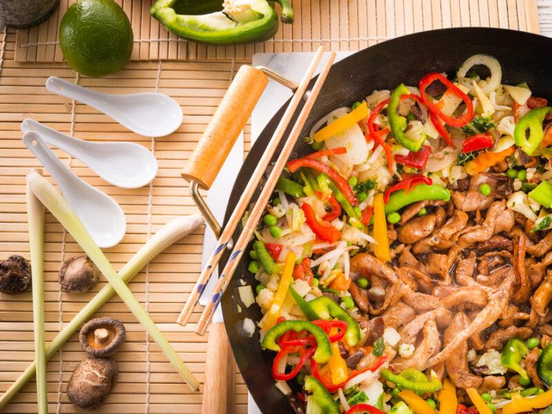 wok verduras