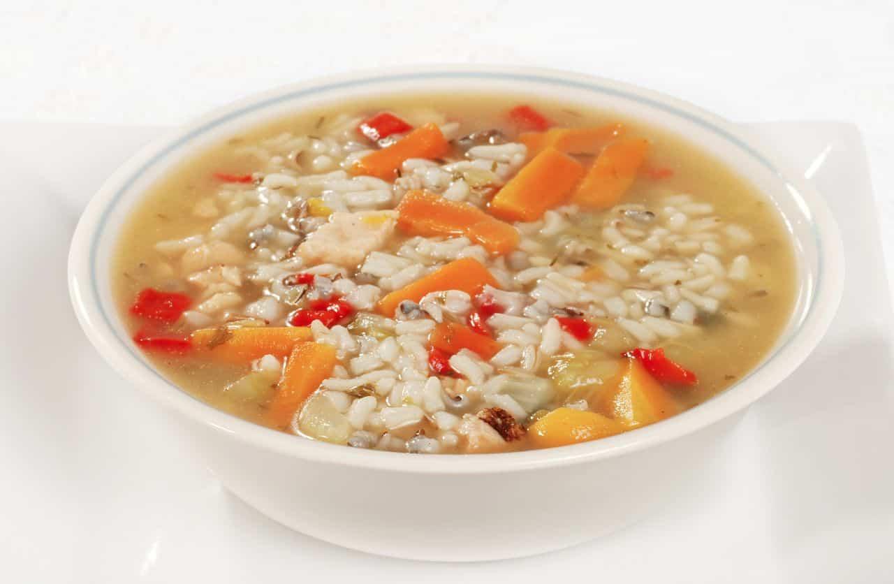 arroz con verduras - arroz con verduras y mero