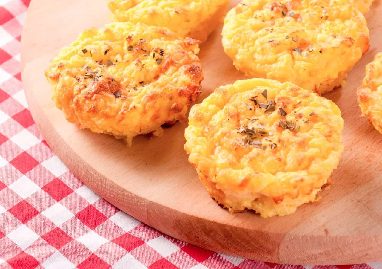 muffns de queso y patata