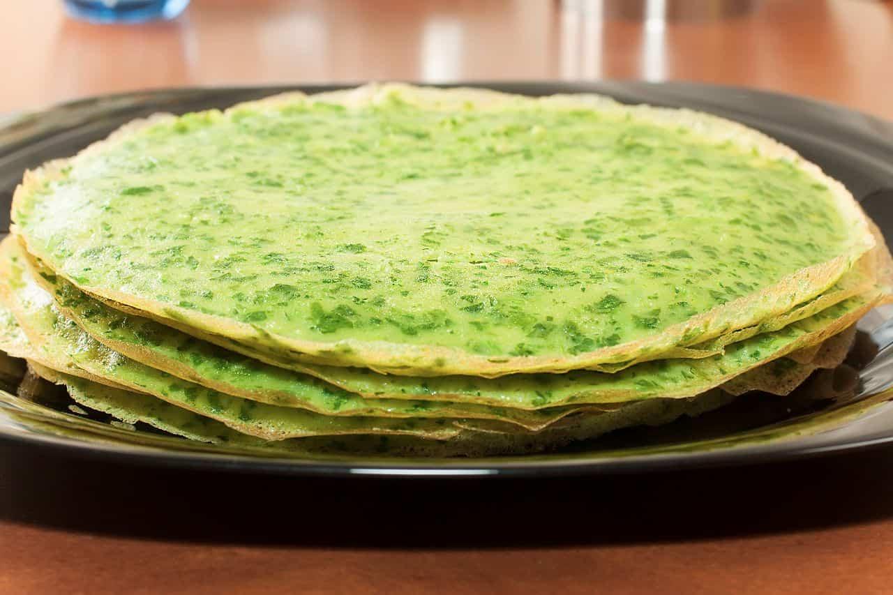 pancakes de espinaca