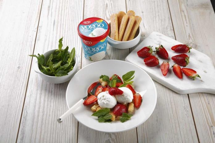 receta de postre con helado de yogurt