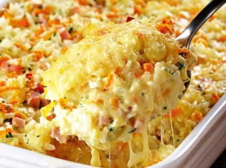 Receta de arroz al horno con queso - Comida para navidad facil ...