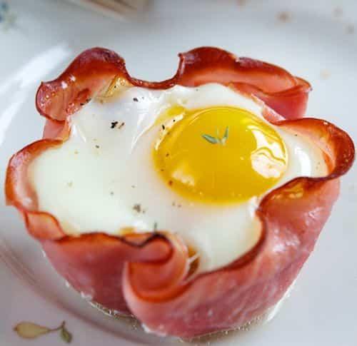 cupcake de bacon y huevo
