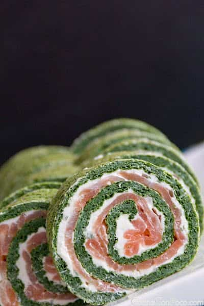 rollo de salmon y espinacas