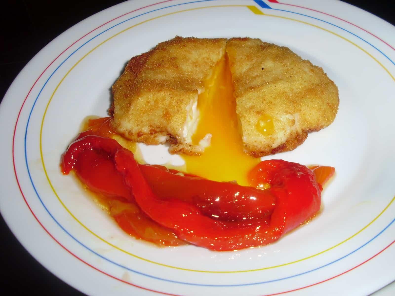 huevos fritos villaroy