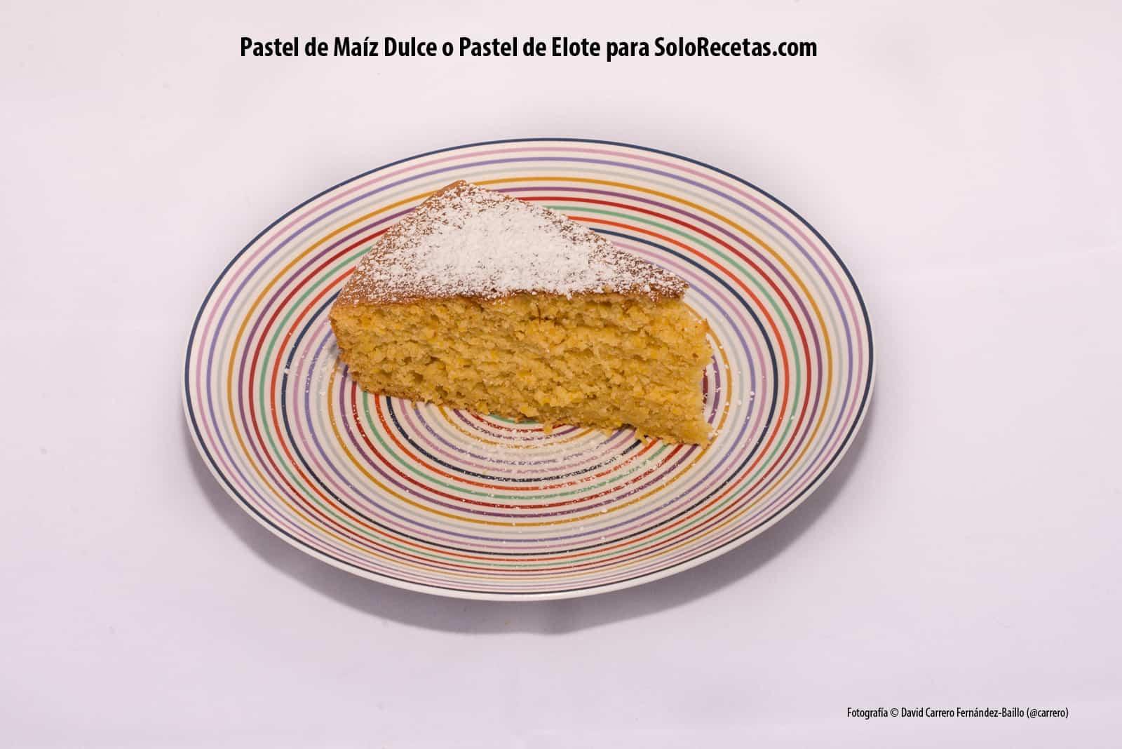 Presentación del Pastel de Maíz Dulce o Pastel de Elote