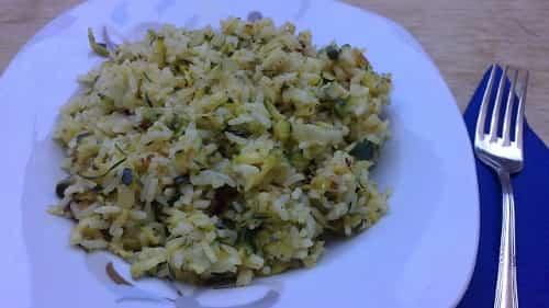 arroz con calabacines