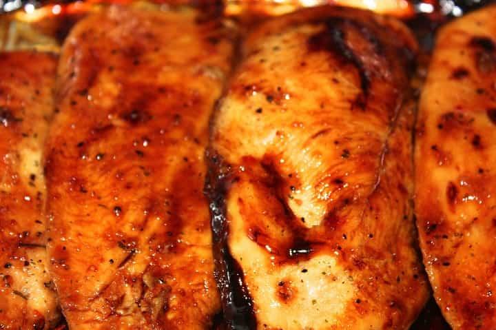 pechugas de pollo caramelizadas