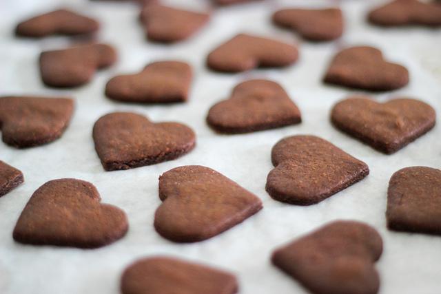 galletas con corazón de chocolate
