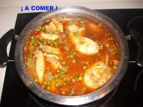guiso de verduras con pollo