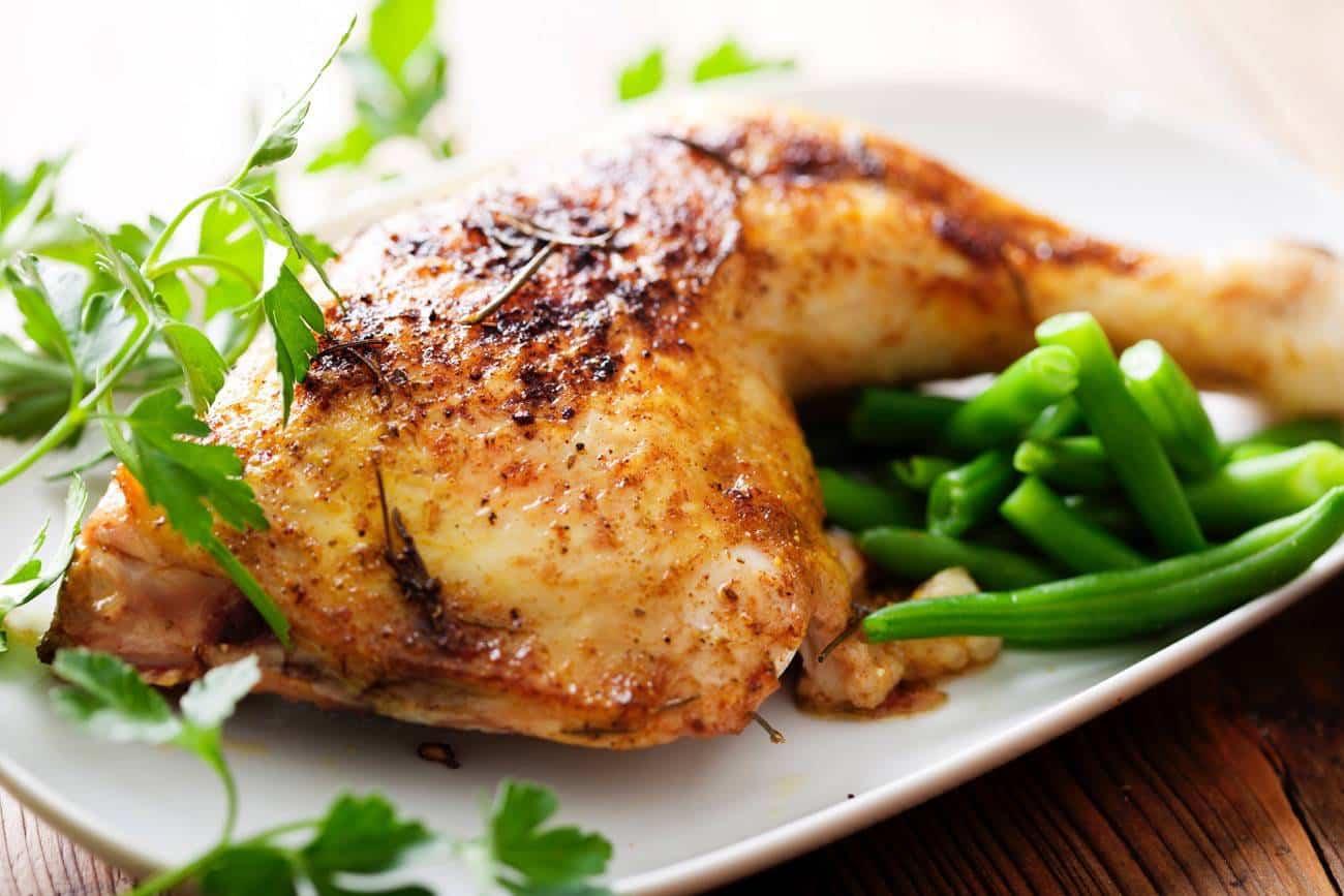 Judias verdes con pollo a la miel
