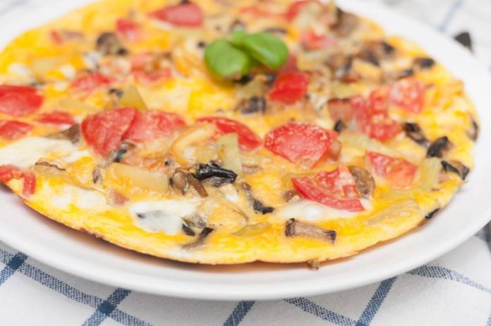 Tortilla francesa de champiñones
