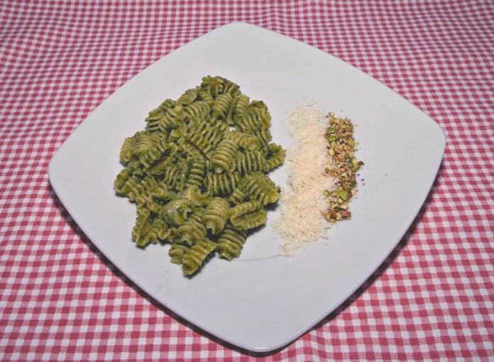 receta de pasta con pesto de pistachos