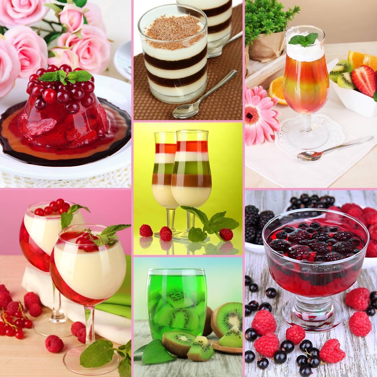 comer fruta con gelatina