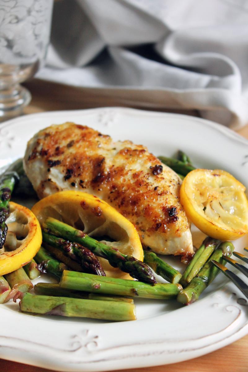 receta de espárragos con pollo