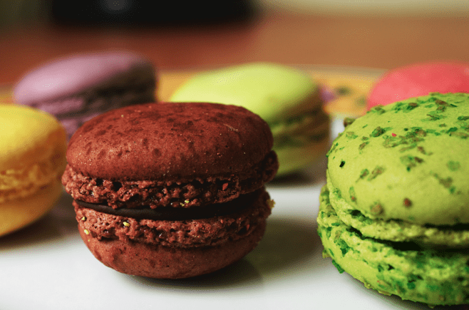 receta de macarons chocolate
