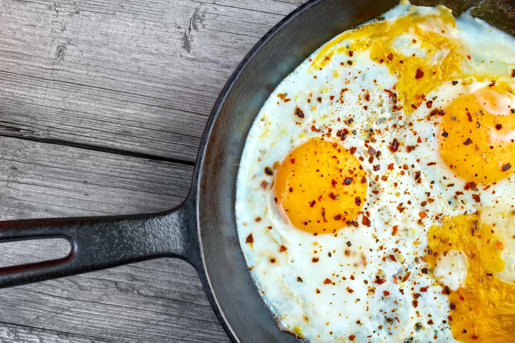 receta de huevos escalfados