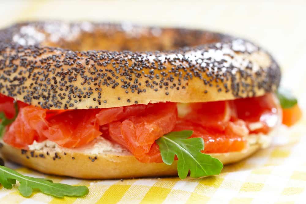 bagel de salmon receta ligera