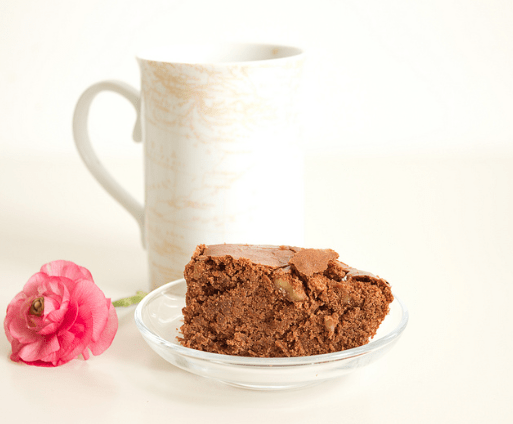 receta de postre ligero brownie