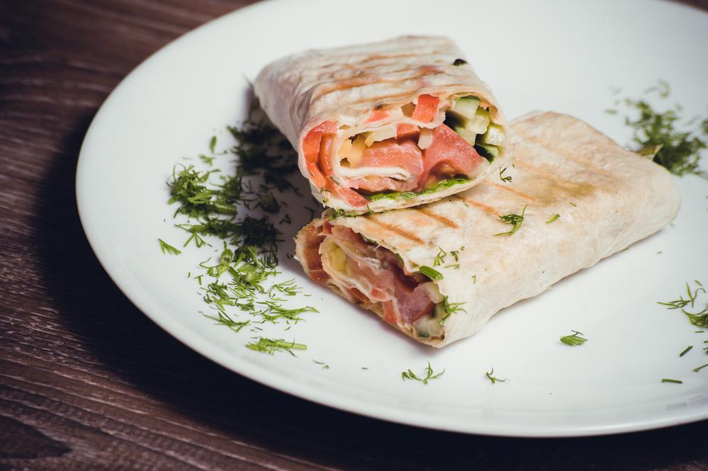 salmón wrap