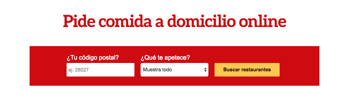 just eat comida a domicilio