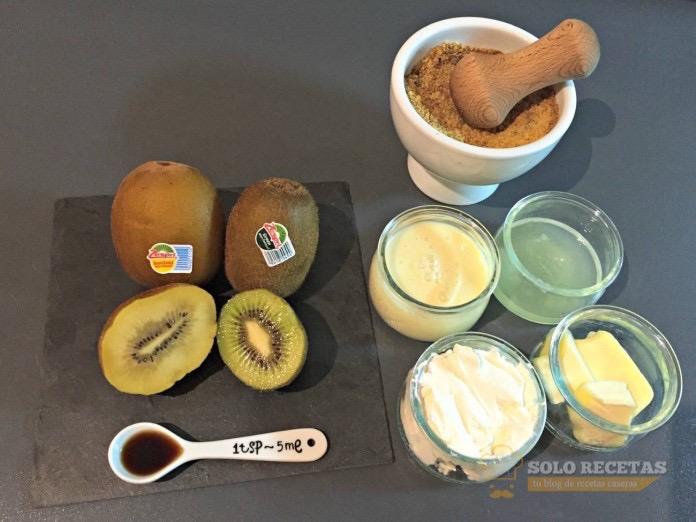 tarta de queso con kiwi ingredientes