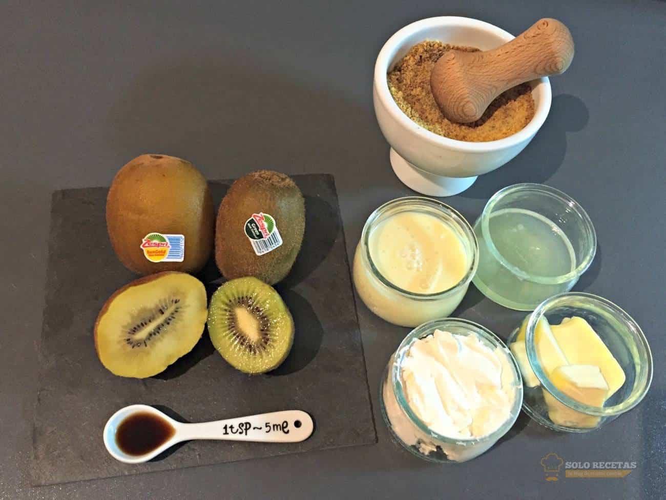 tarta de queso con kiwi - ingredientes