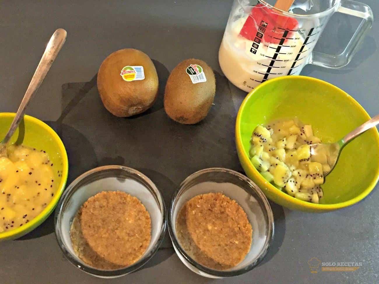 tarta de queso con kiwi - paso 6 - antes de emplatar