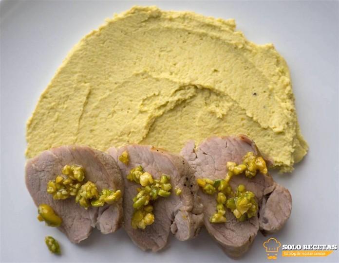 solomillo a la sal con hummus de pistacho 2