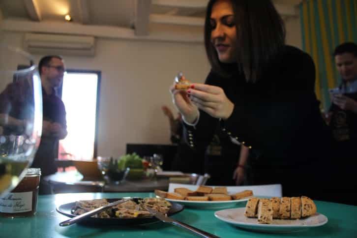 El foie gras en la clase de cocina de Madrid