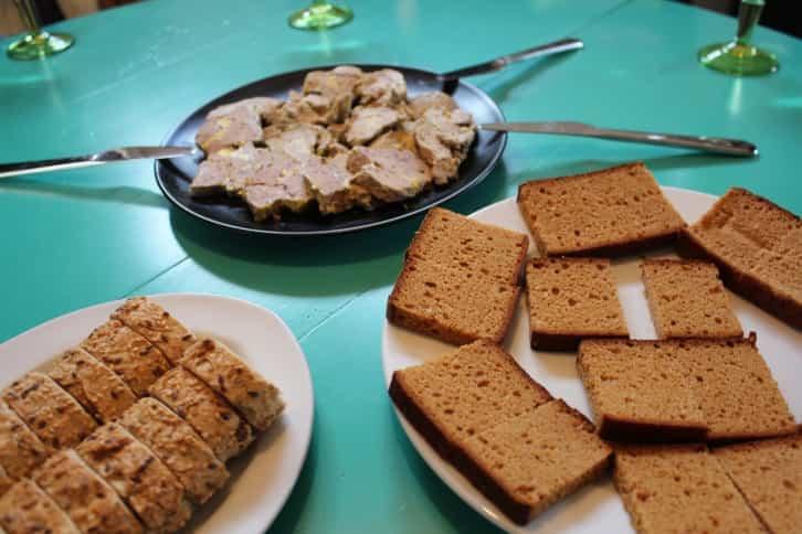 experiencia de cocina - Foie gras listo para la clase de cocina