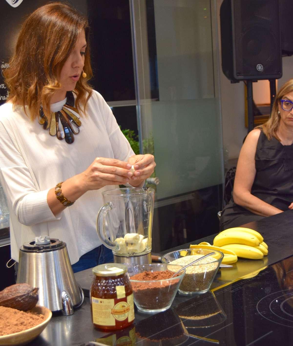 smoothie de platano y cacao